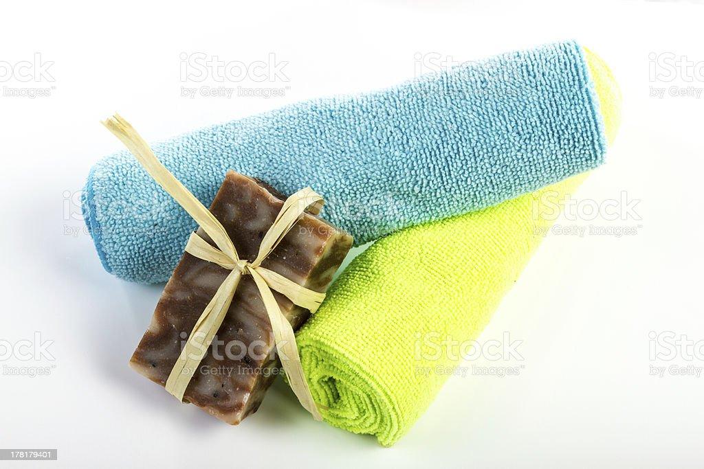 Hand made soap royalty-free stock photo