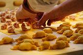 Hand made tortelloni