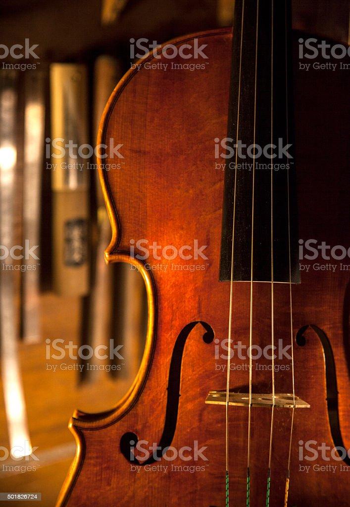 hand made violin stock photo