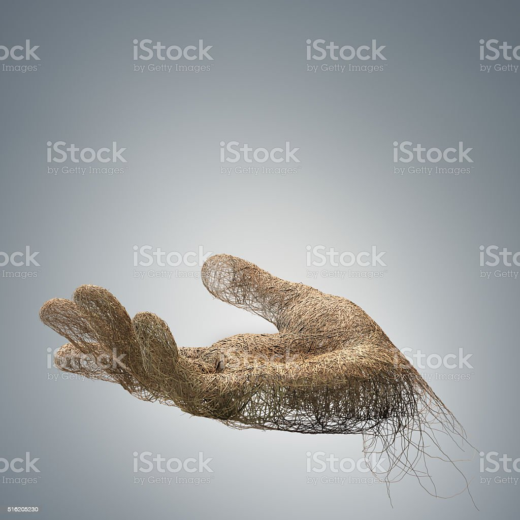hand made with  branches wires stock photo
