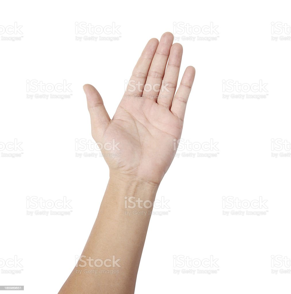 hand making sign stock photo