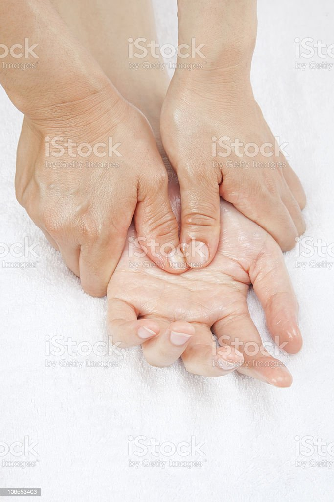 Hand Massage royalty-free stock photo