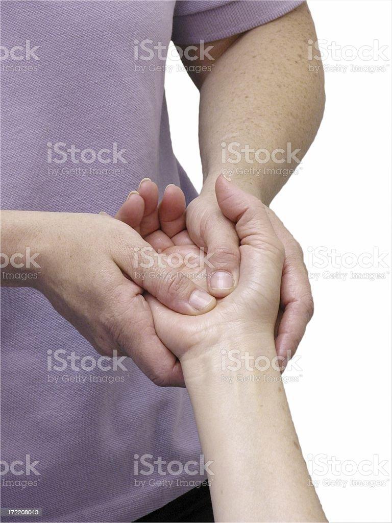 hand massage stock photo
