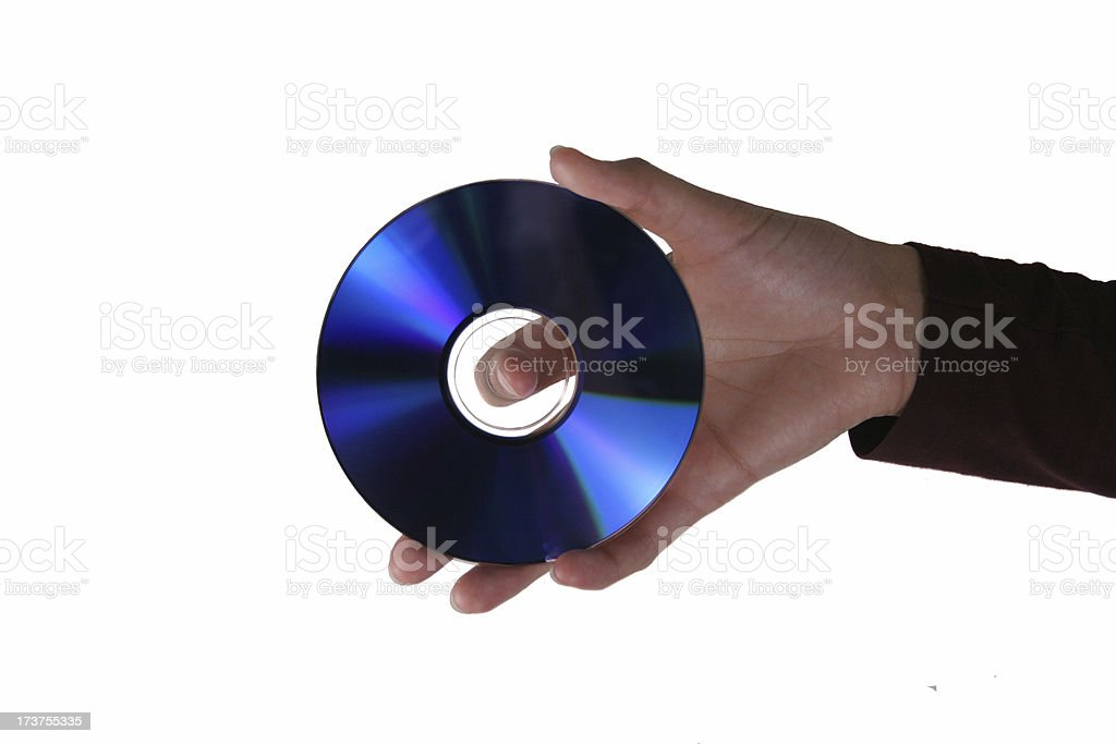Hand Me a CD stock photo