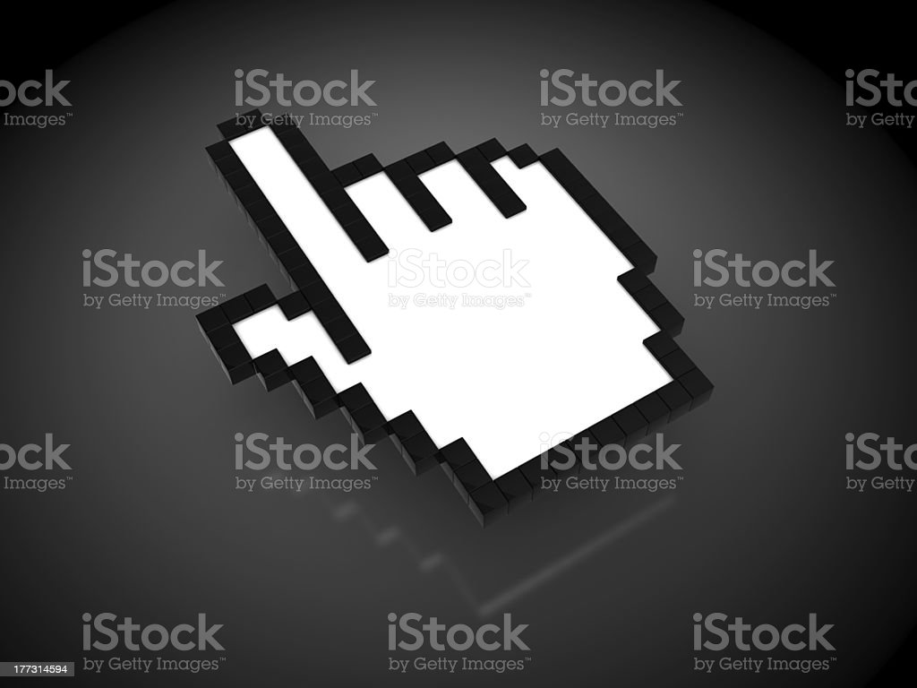hand mouse cursor royalty-free stock photo