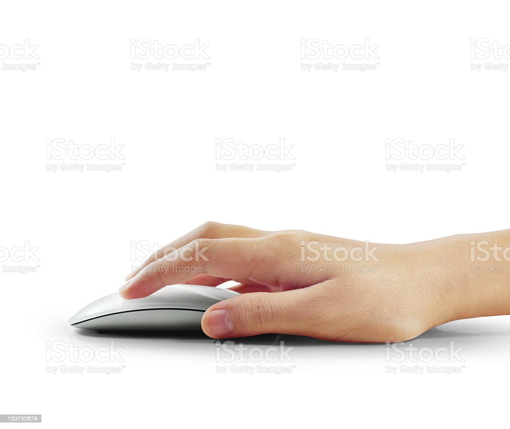 Hand  mouse stock photo
