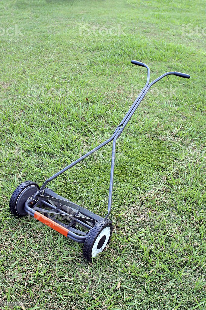 Hand Mower 2 stock photo