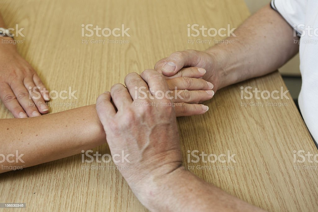 Hand occupational therapy royalty-free stock photo