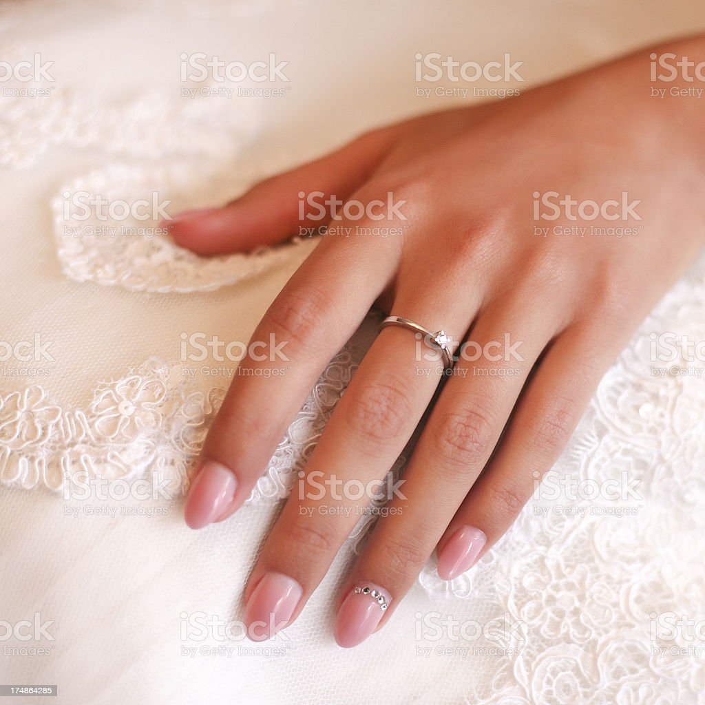 Hand of a bride royalty-free stock photo