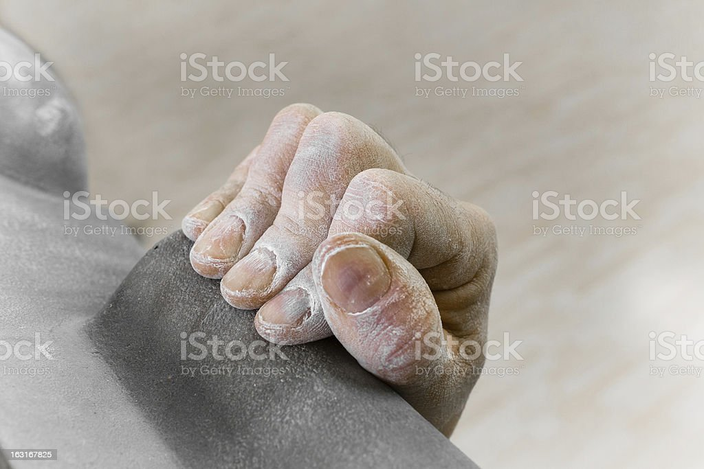 Hand of a climber royalty-free stock photo