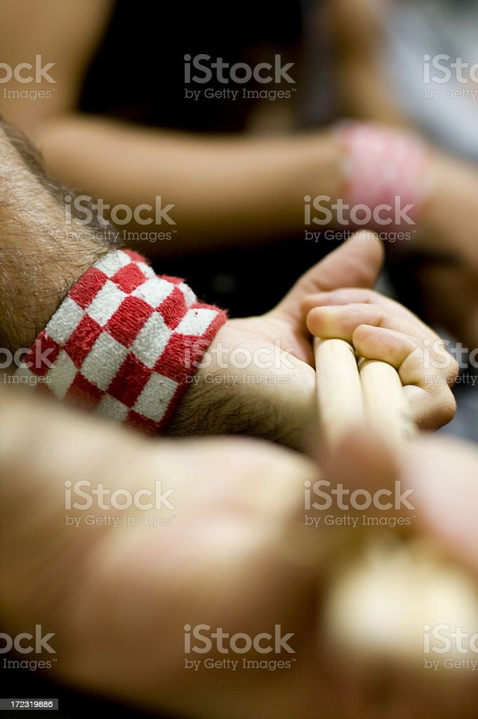 Hand of a Drummer stock photo