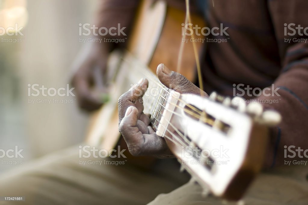 Hand of a Guitar Player royalty-free stock photo