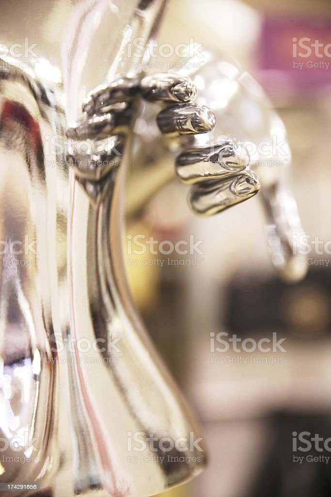 Hand of a reflective shop mannequin royalty-free stock photo