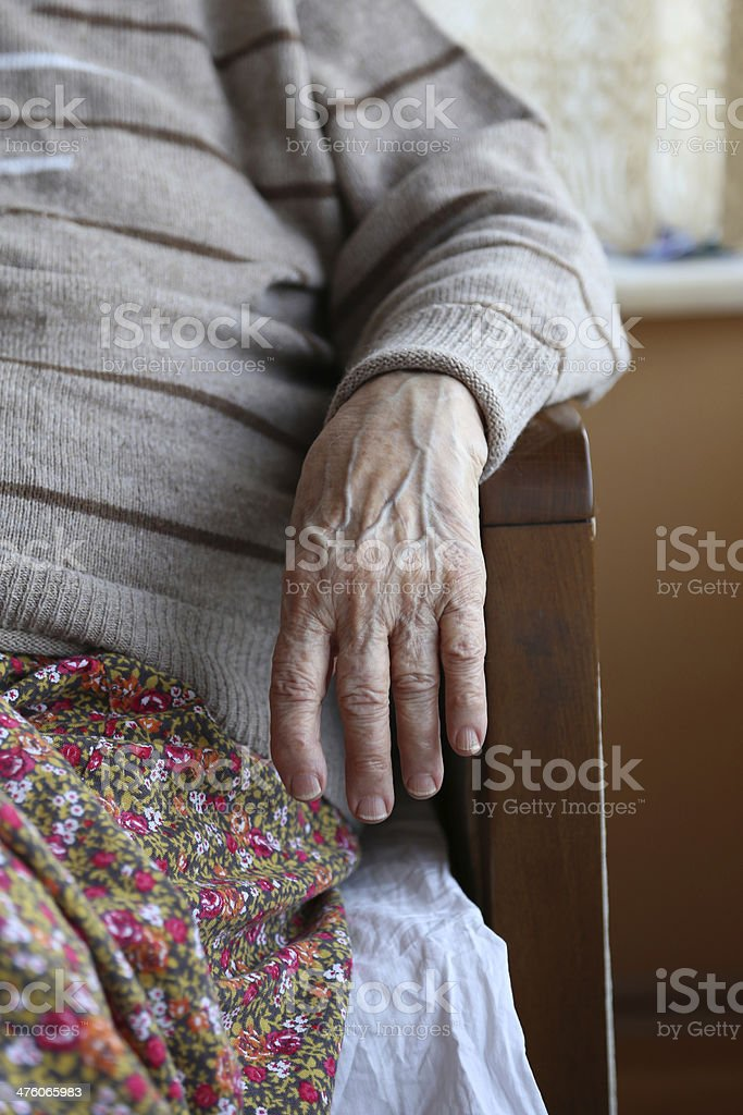 hand of a senior person royalty-free stock photo