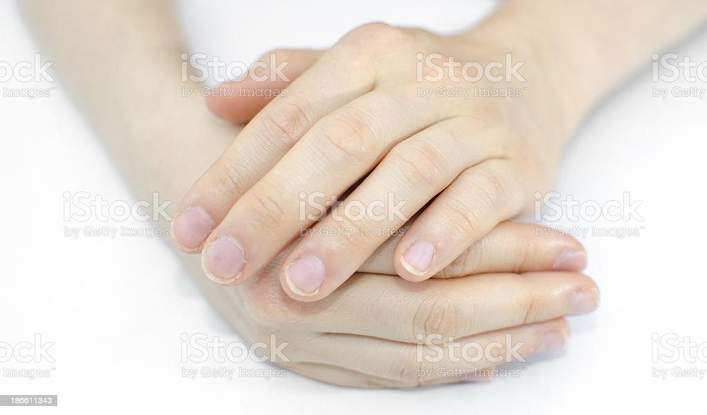 Hand of a young woman royalty-free stock photo