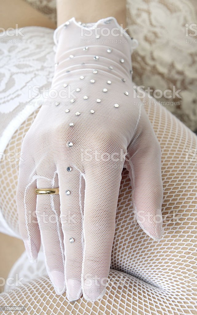 Hand of bride royalty-free stock photo