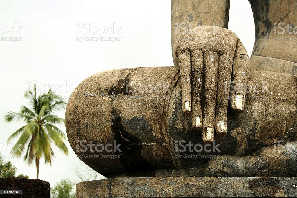 hand of buddha sukhothai thailand royalty-free stock photo