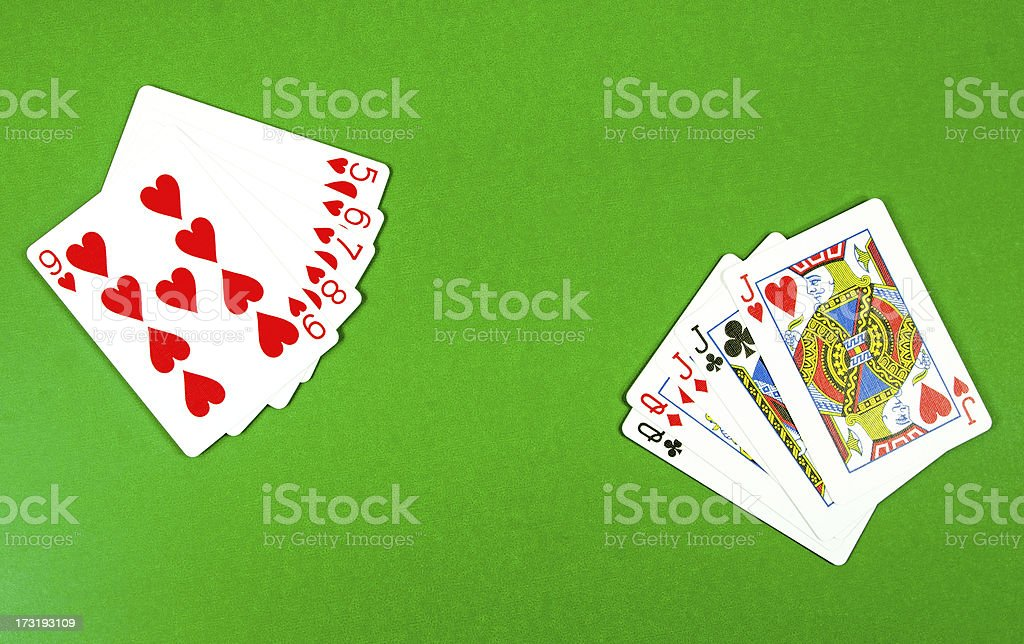 Hand of Cards... Full House royalty-free stock photo