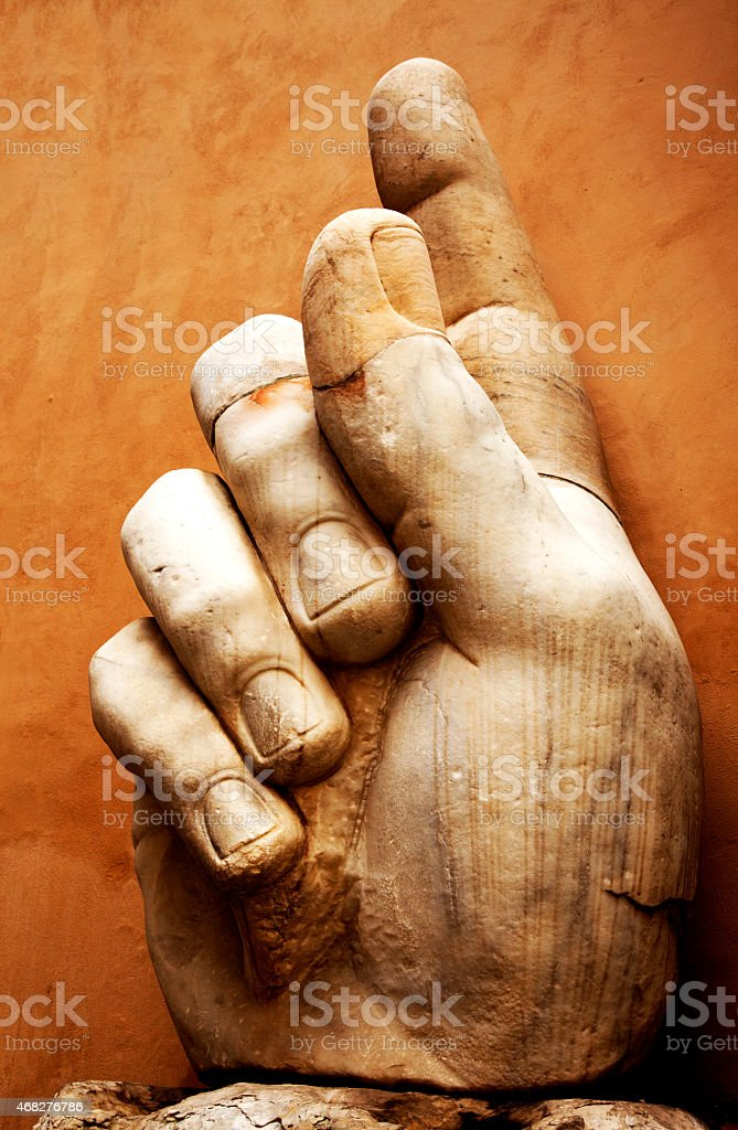 Hand of Constantine Colossus stock photo