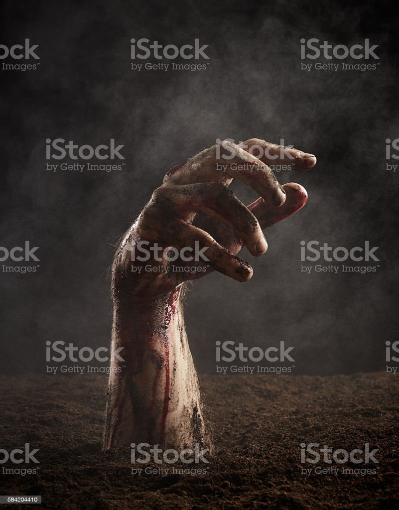 Hand of dead stock photo