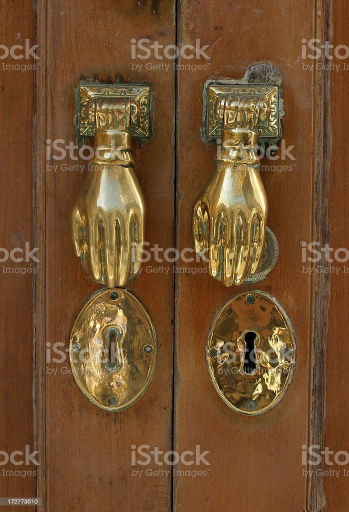 Hand of Fatima Door Knocker stock photo
