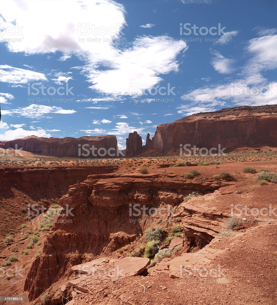 Hand of God in Monument Valley stock photo