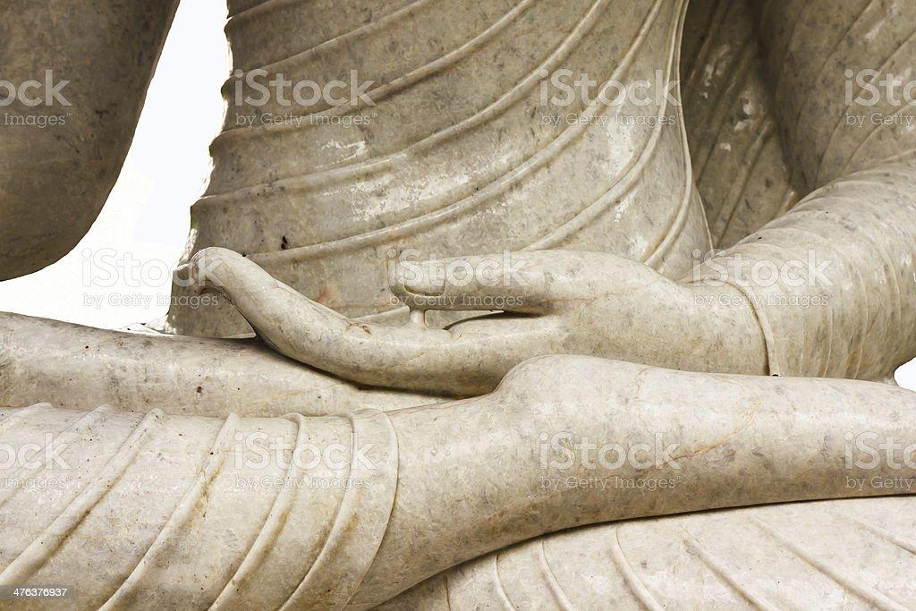 Hand of jade buddha image stock photo