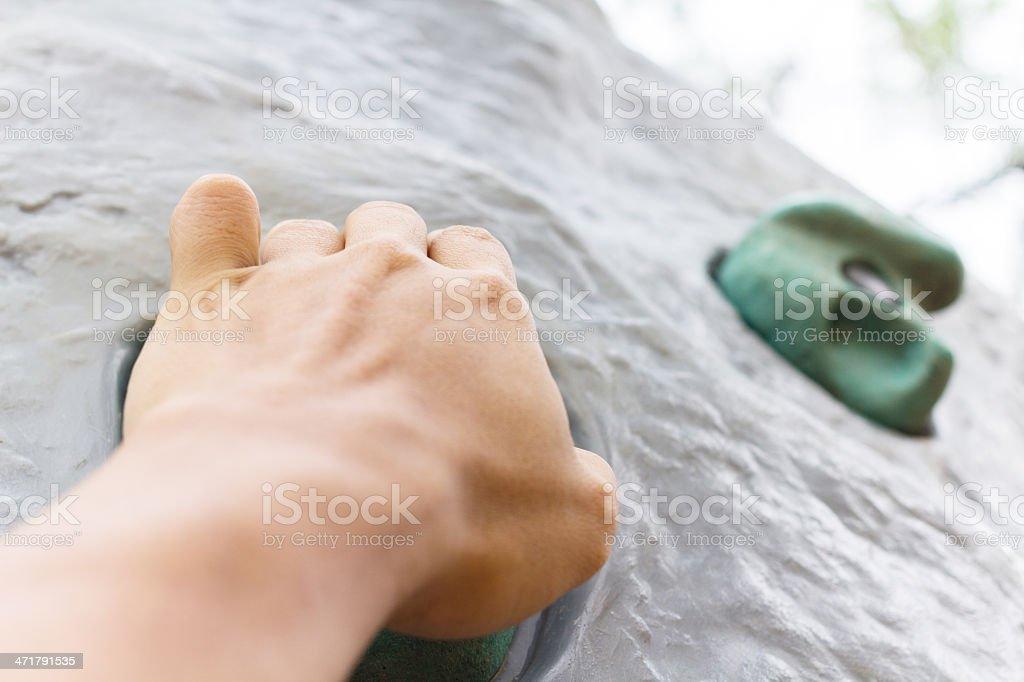 Hand of rock climber. royalty-free stock photo