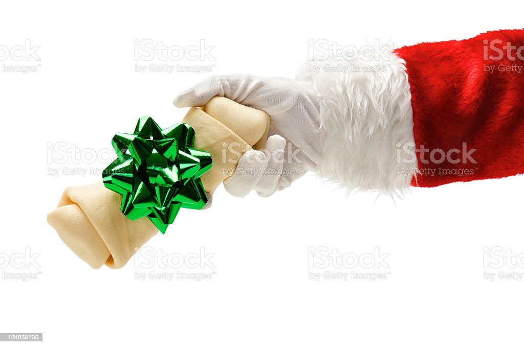 Hand of Santa Clause stock photo