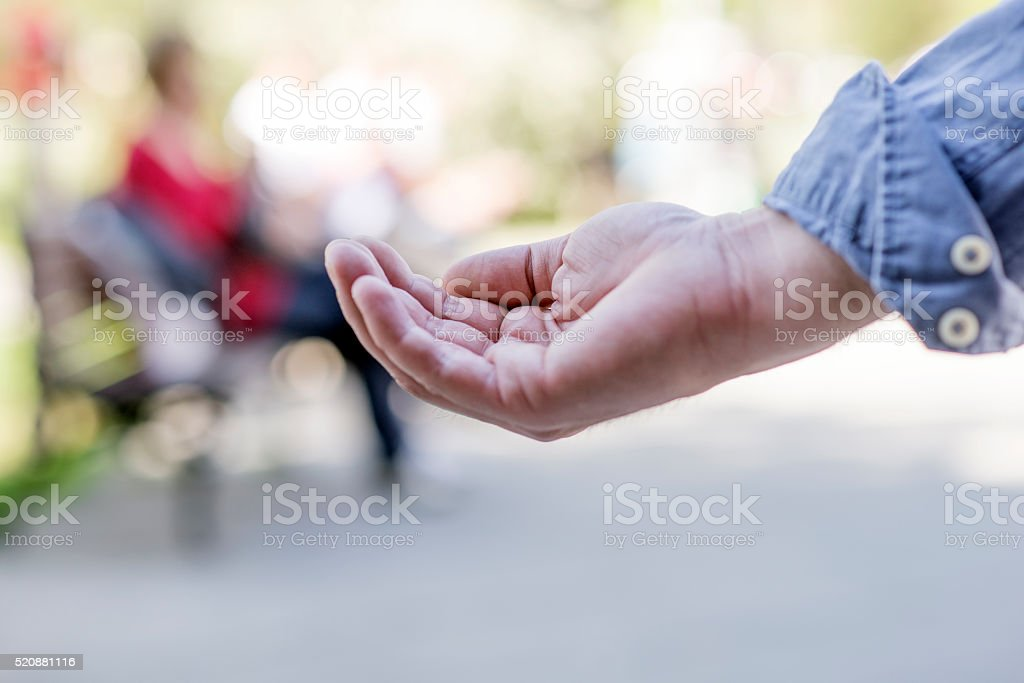 Hand  of the Suffering stock photo