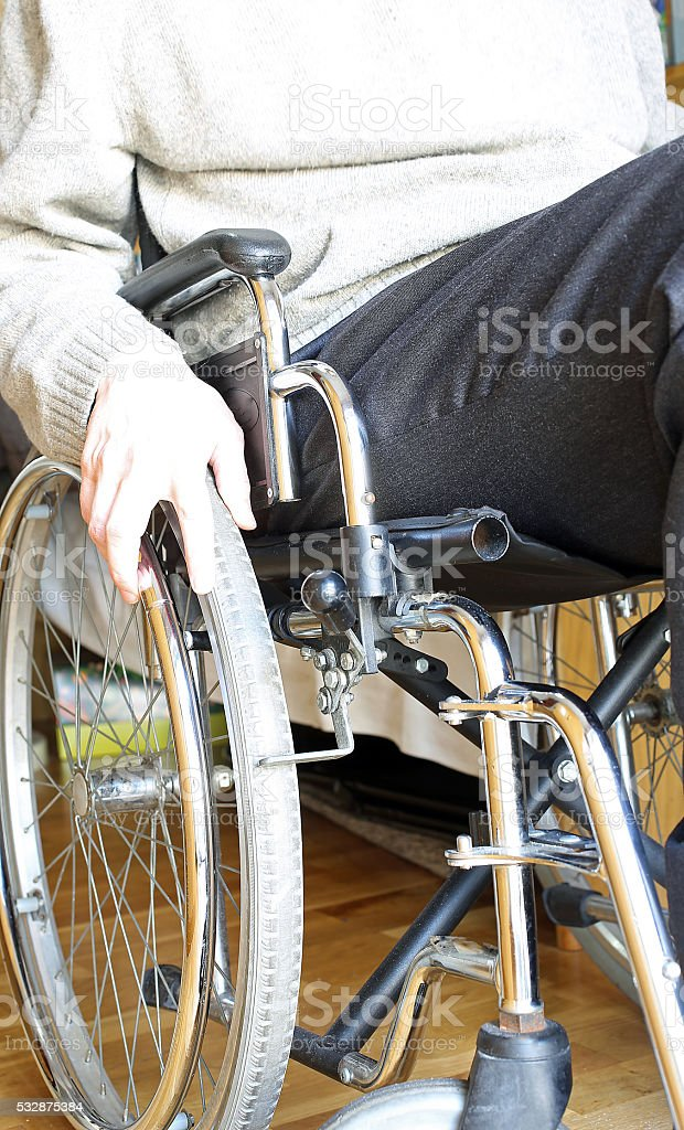 hand of the young disabled stock photo