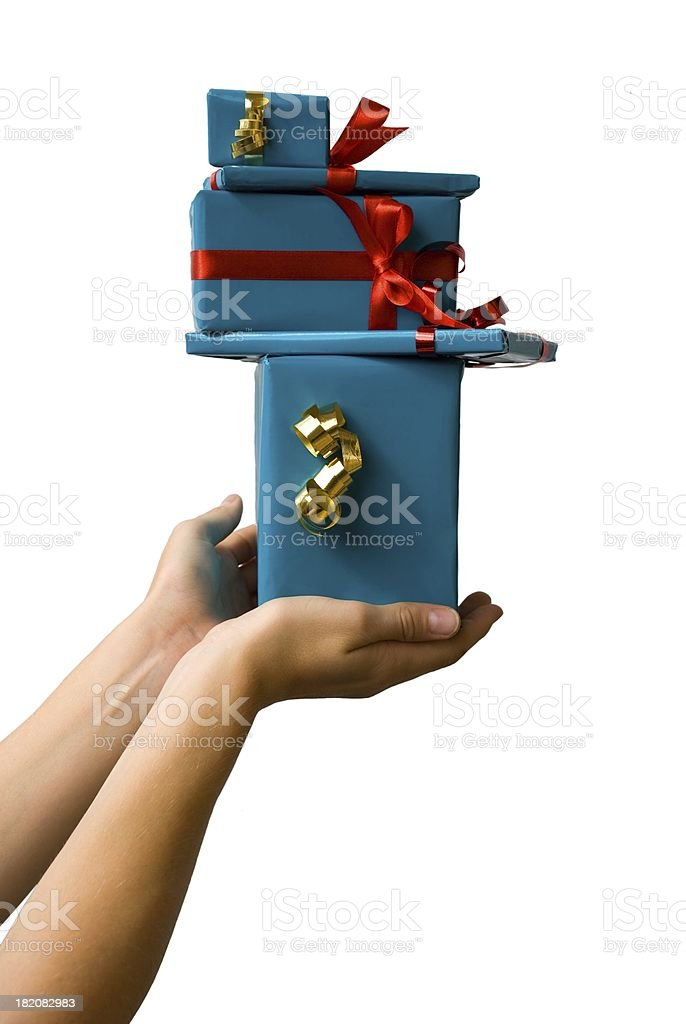 hand offering gifts stock photo