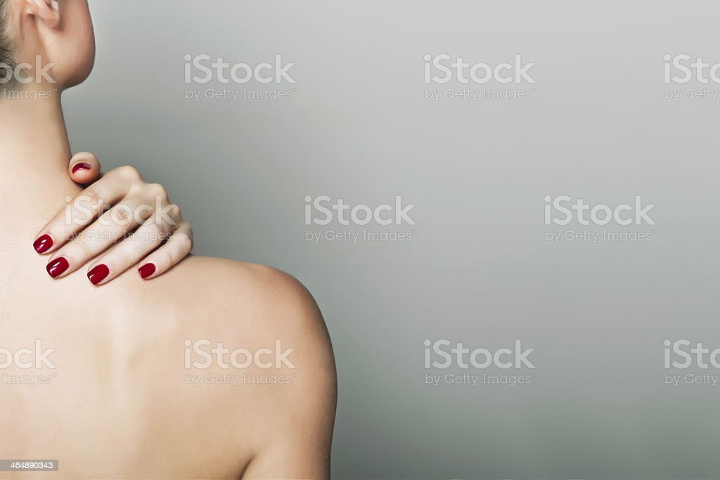 hand on a sholder stock photo
