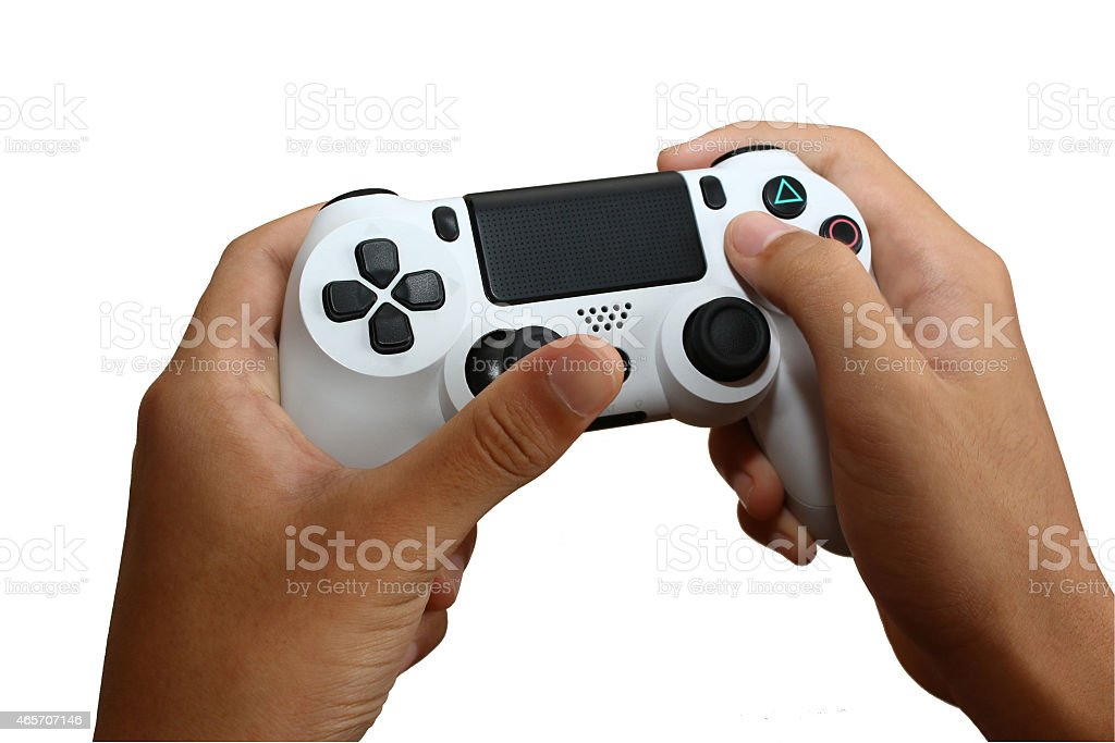 Main sur Gamepad -Joystick-Joypad photo libre de droits