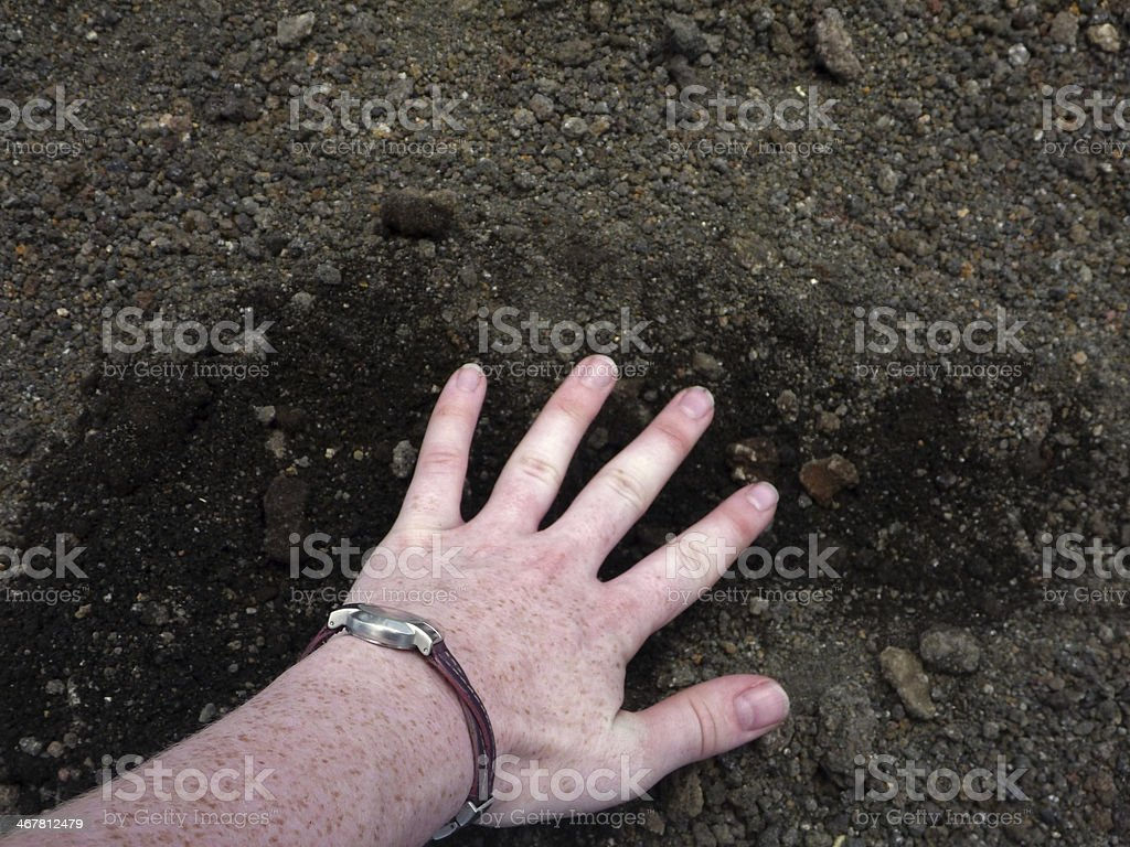 Hand on Ground royalty-free stock photo