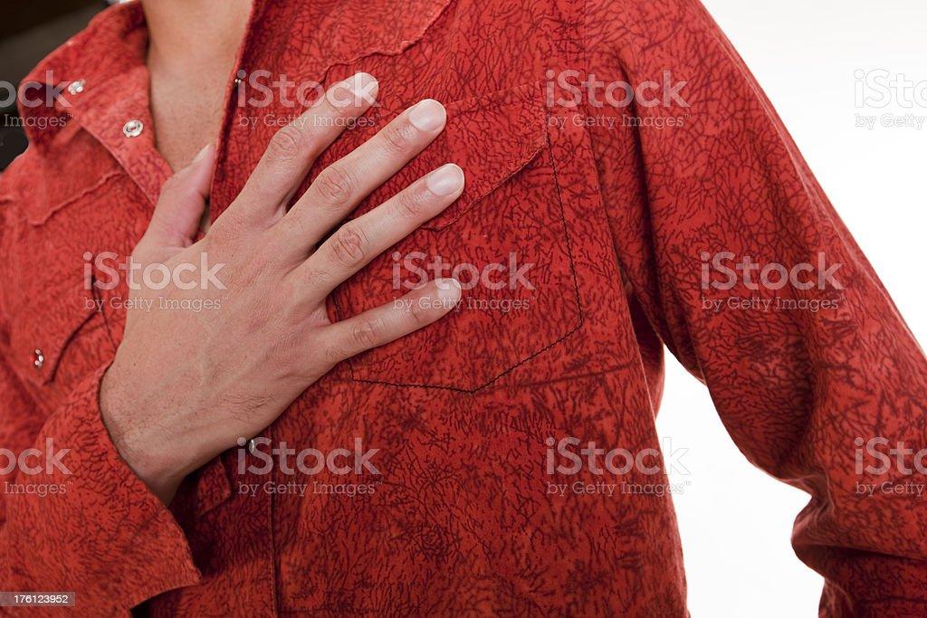 hand on heart stock photo