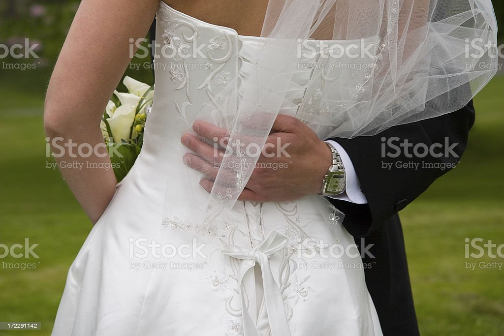 Hand on her back royalty-free stock photo