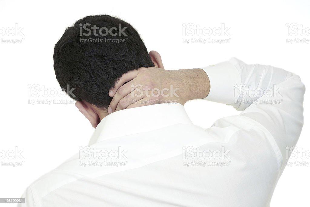 Hand on nape stock photo