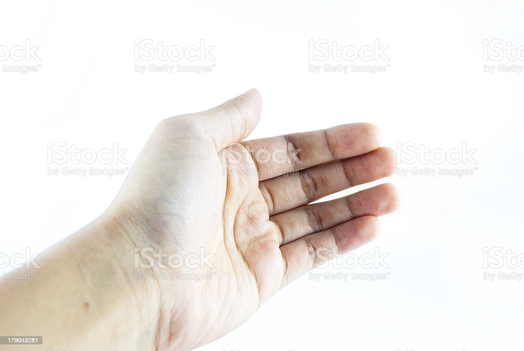 hand on the isolated royalty-free stock photo
