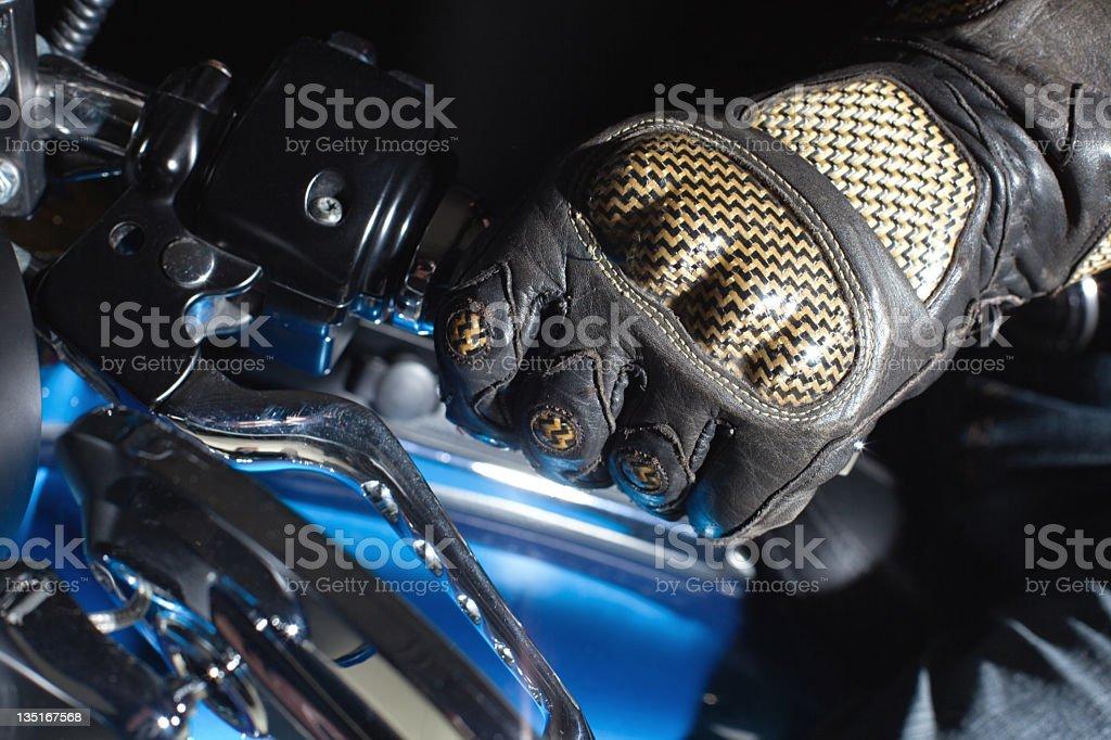 Hand on the Throttle stock photo