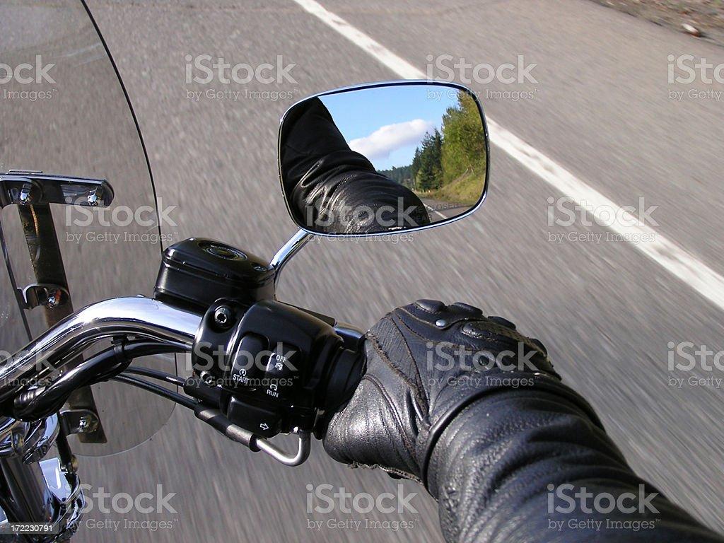 Hand on the Throttle (1) stock photo