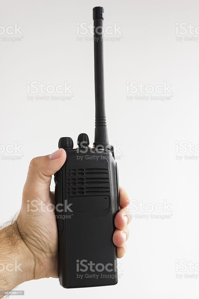 Hand on Transceiver stock photo