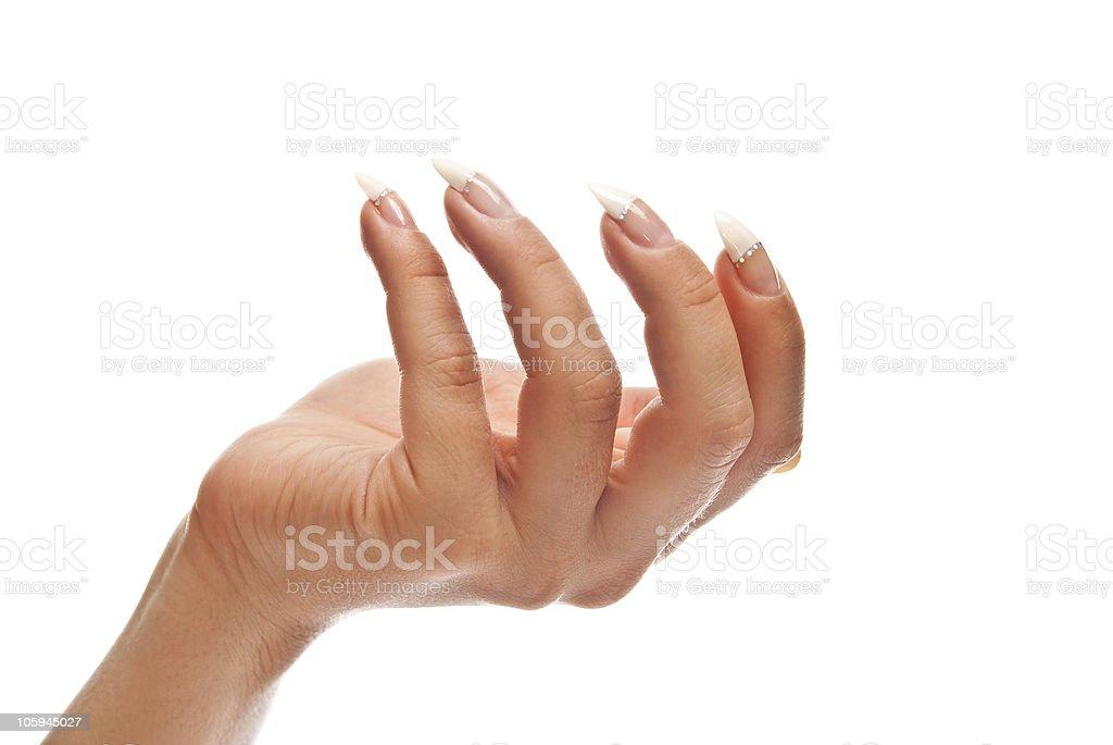 Hand open royalty-free stock photo