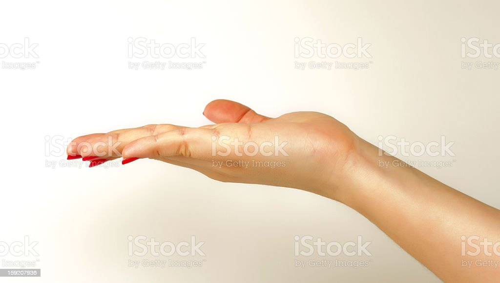 Hand Open royalty-free stock photo