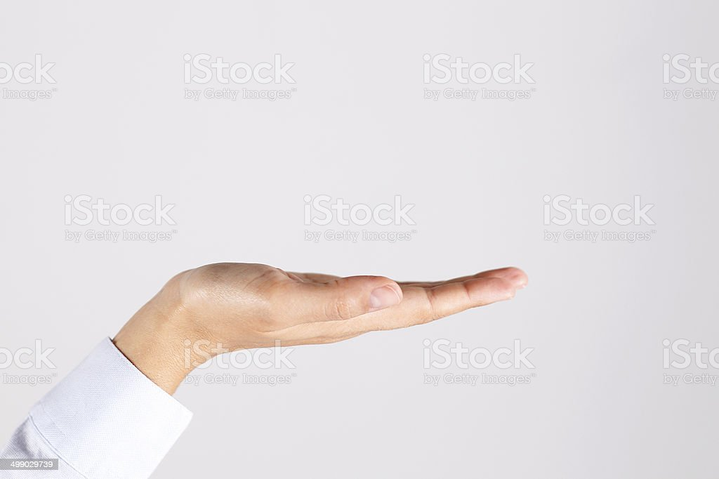 Hand Open stock photo