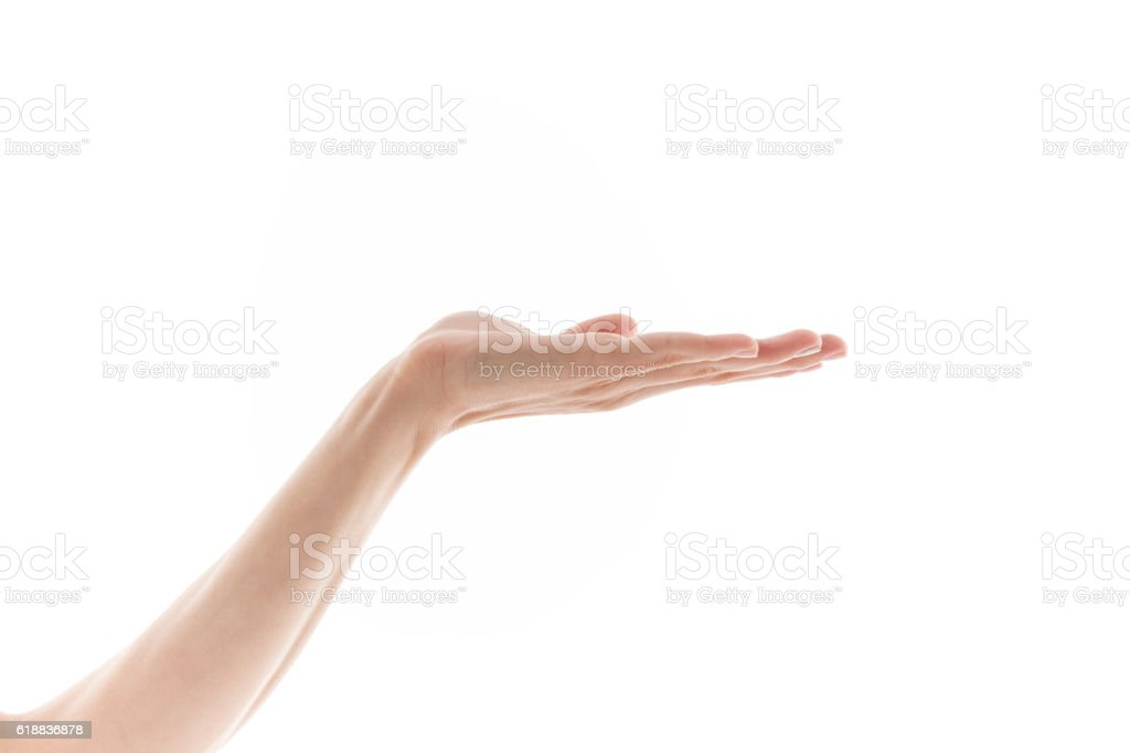 Hand Open stock photo