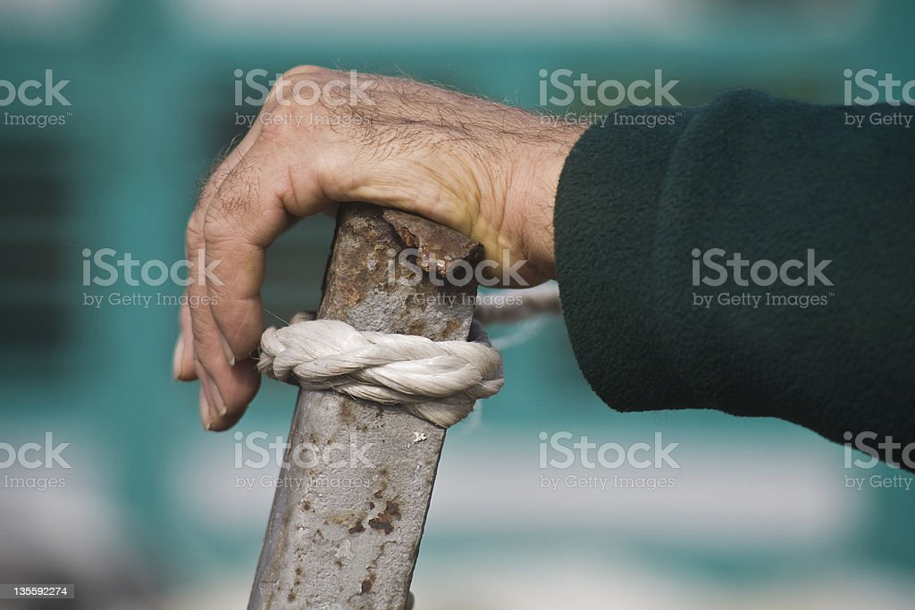 Hand over a pile stock photo