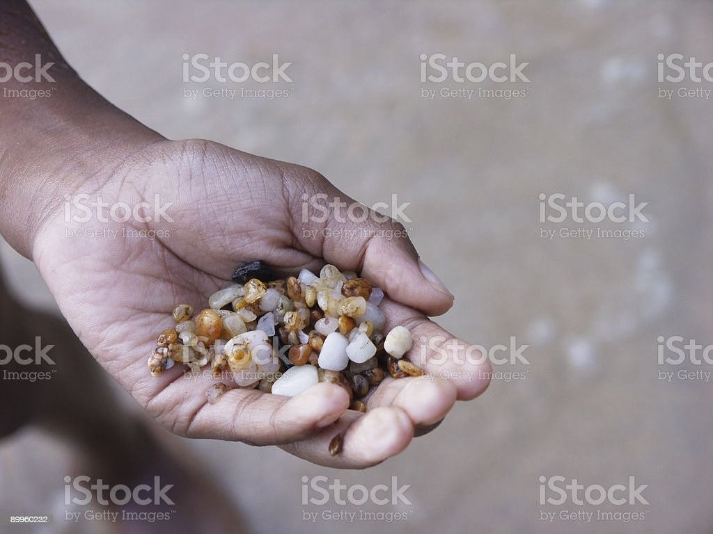 hand over the beach royalty-free stock photo