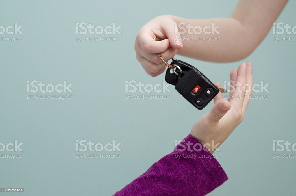 Hand over your keys royalty-free stock photo