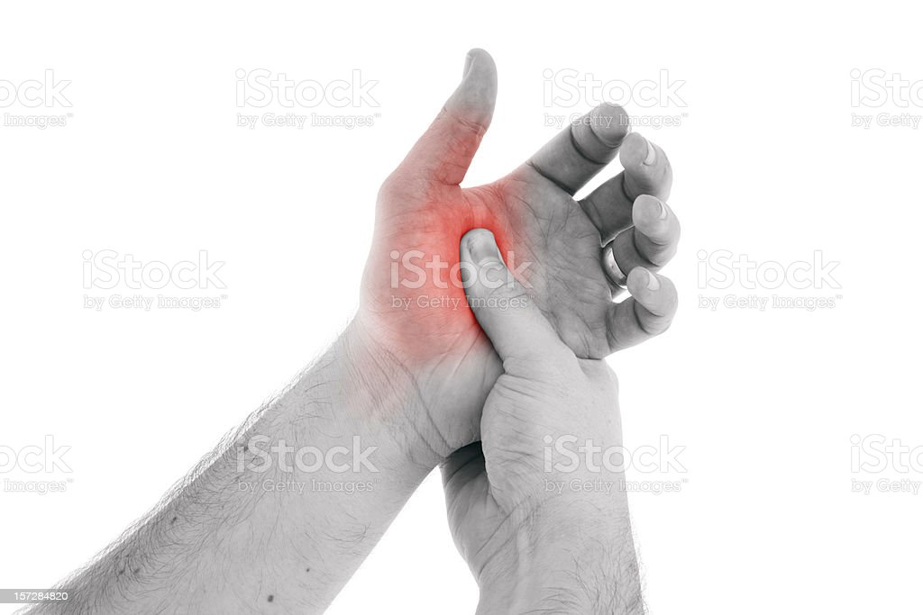 Hand Pain (request) royalty-free stock photo